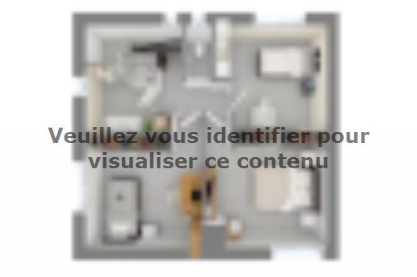 Plan de maison Méditerranée 140 4 chambres  : Photo 4
