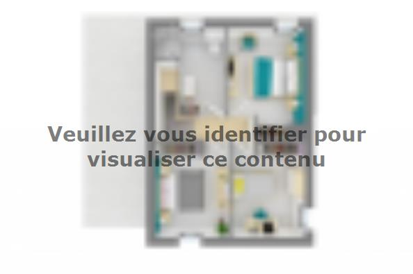 Plan de maison Ultima 90GI 3 chambres  : Photo 4
