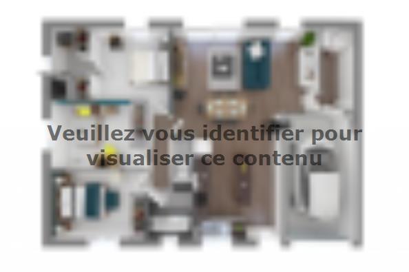 Plan de maison Optima 84 3 chambres  : Photo 2