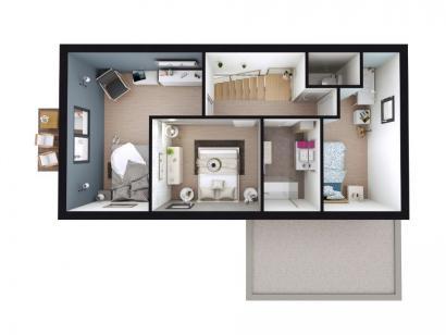 Modèle de maison AM-87-R+1-R-GA 3 chambres  : Photo 4