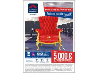 Jusqu'au 30 avril, 5000€ de prestations offertes!*