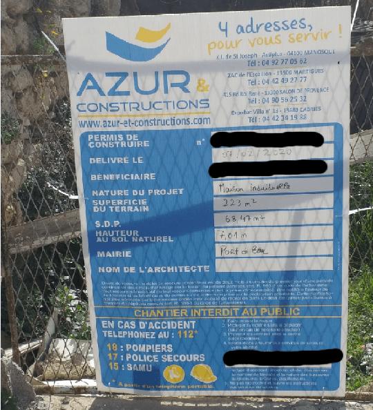 permis de construire villa individuelle port de bouc azur et constructions