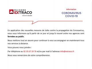 Information Coronavirus - Fermeture agences