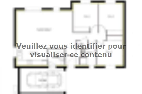 Plan de maison PT_PP_3_85_GAENL 3 chambres  : Photo 1
