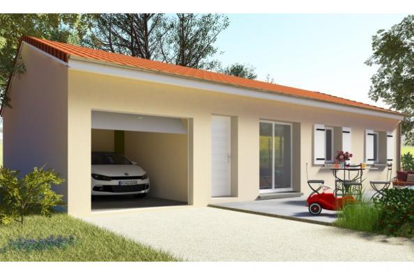 Modèle de maison PT_PP_3_85_GEF 3 chambres  : Photo 1