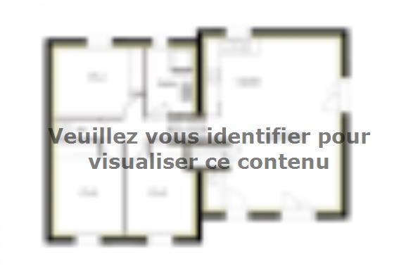Plan de maison PT_D_3_75 3 chambres  : Photo 1