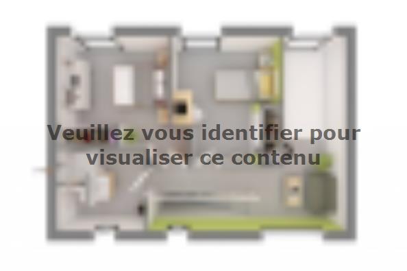 Plan de maison YRYS 133 4 chambres  : Photo 4
