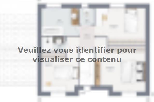 Plan de maison Actua 100 R+1 GA 4 chambres  : Photo 2