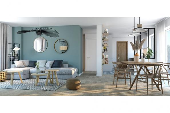 Modèle de maison Actua 100 R+1 GA 4 chambres  : Photo 2