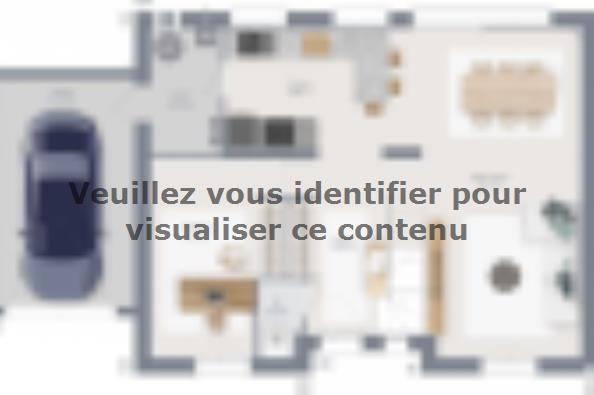 Plan de maison Actua 120 R+1 GA 5 chambres  : Photo 1