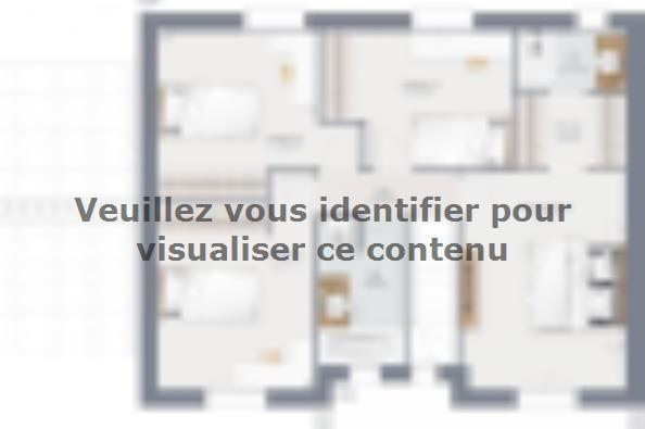 Plan de maison Actua 120 R+1 GA 5 chambres  : Photo 2