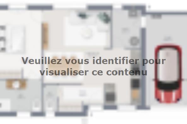 Plan de maison Family 60 GA 1 chambre  : Photo 1