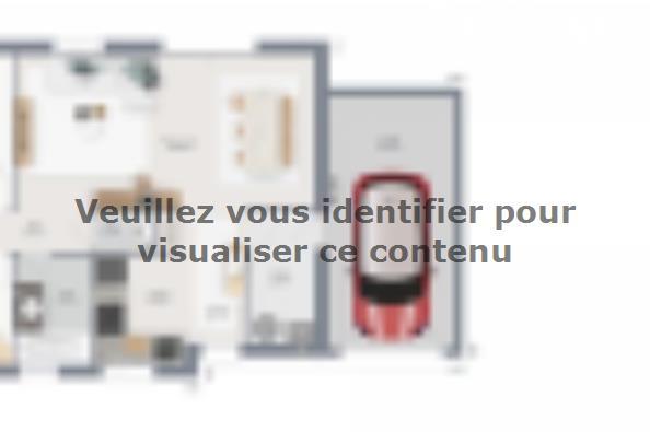 Plan de maison Family 70 GA 2 chambres  : Photo 1