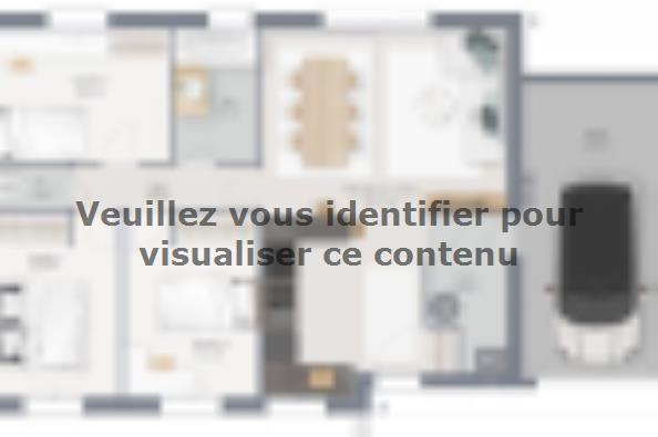 Plan de maison Family 75 GA 3 chambres  : Photo 1