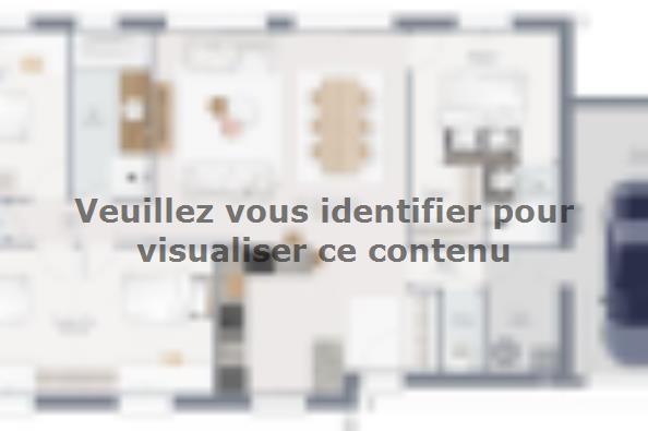 Plan de maison Family 105 GA 4 chambres  : Photo 1