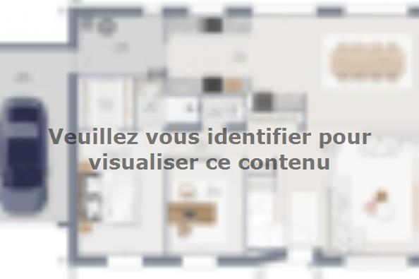 Plan de maison Horizon 145 GA 6 chambres  : Photo 1