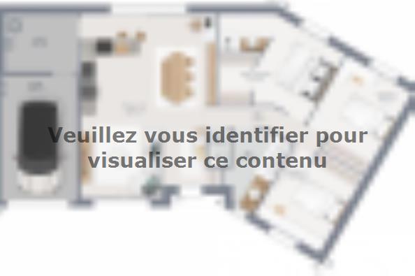 Plan de maison Inova 90 3 chambres  : Photo 1