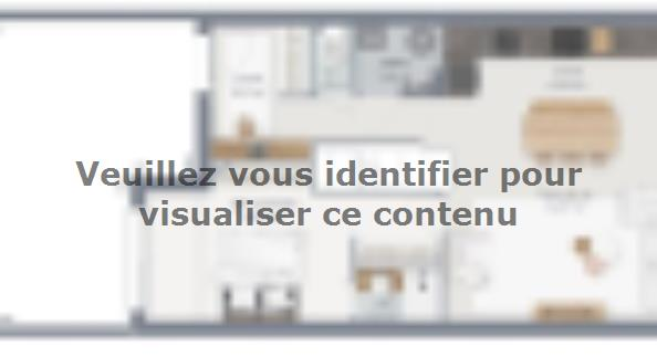 Plan de maison Rubic 100 3 chambres  : Photo 1