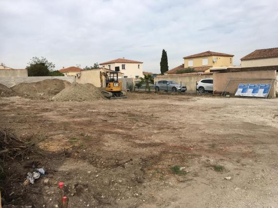 terrassement en cours gignac la nerthe azur et constructions