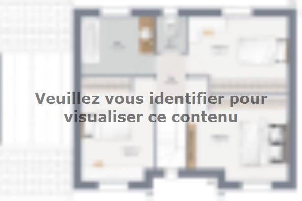 Plan de maison Actua 105 R+1 GI Brique 4 chambres  : Photo 2
