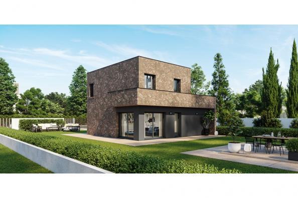 Modèle de maison Eco Concept 90 R+1 GI Brique 3 chambres  : Photo 1