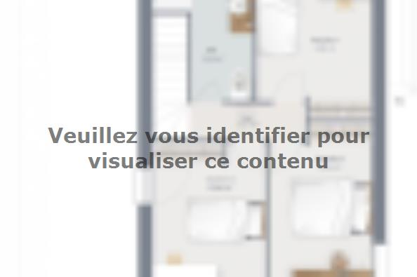 Plan de maison Eco Concept 90 R+1 GI Brique 3 chambres  : Photo 2