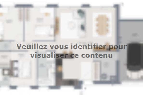 Plan de maison Family 90 GA Brique 3 chambres  : Photo 1