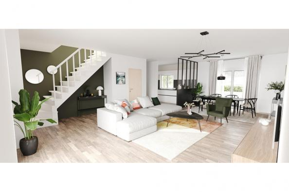 Modèle de maison Horizon 100 GI Brique 4 chambres  : Photo 2