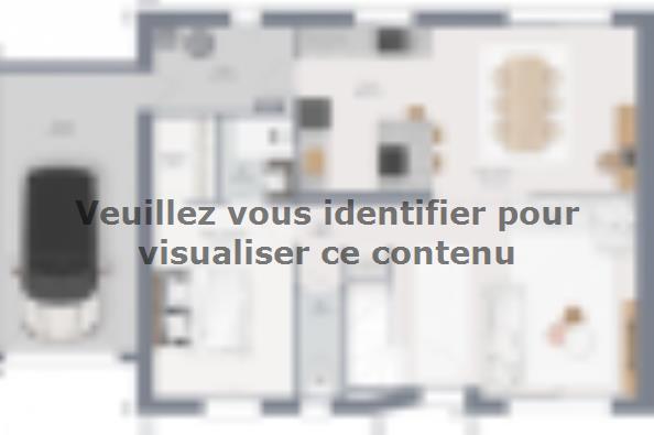 Plan de maison Horizon 115 GA Brique 4 chambres  : Photo 1