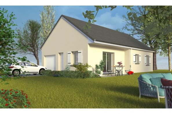 Modèle de maison PT_PP_3_75_GIP_Nord 3 chambres  : Photo 1