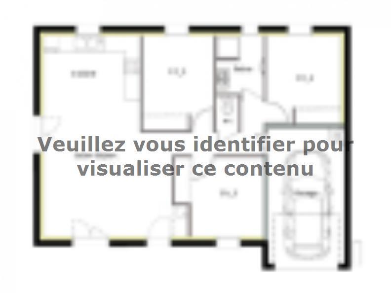 Plan de maison PT_PP_3_75_GEF_Nord : Vignette 1