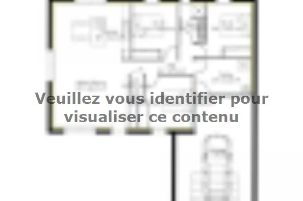 Plan de maison PP93_P1568 3 chambres  : Photo 1
