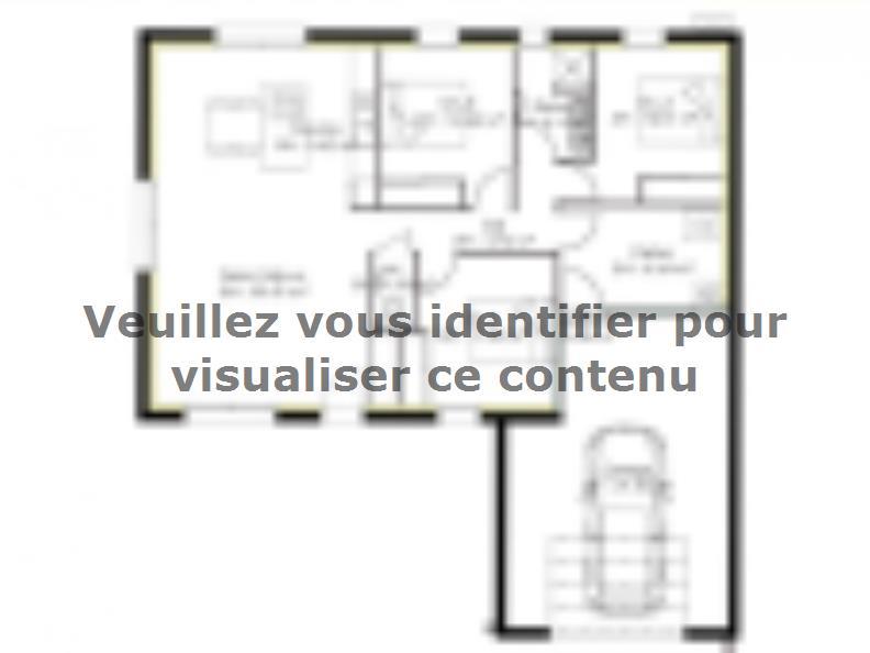 Plan de maison PP93_P1568 : Vignette 1