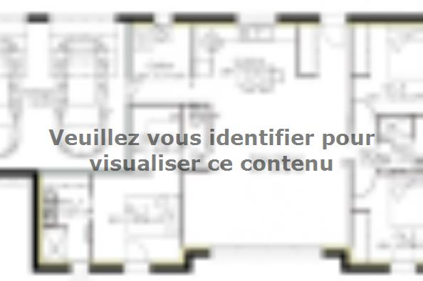 Plan de maison PP103_P1567V4 3 chambres  : Photo 1