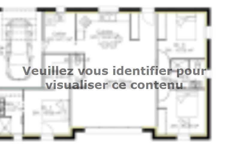 Plan de maison PP103_P1567V4 : Vignette 1