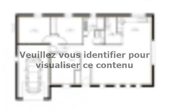 Plan de maison PP96_P640V9 3 chambres  : Photo 1