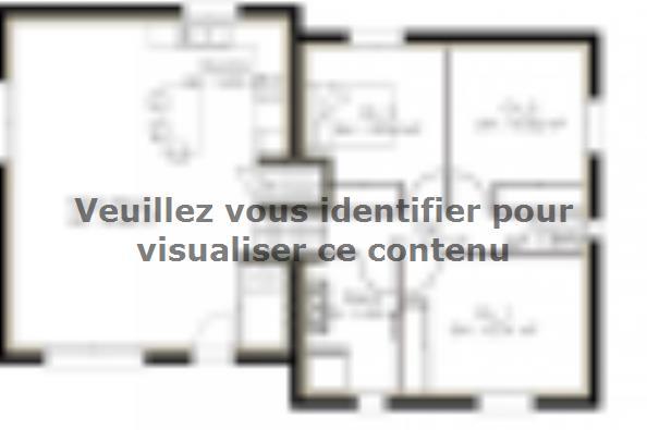Plan de maison D92_P886V5 3 chambres  : Photo 1