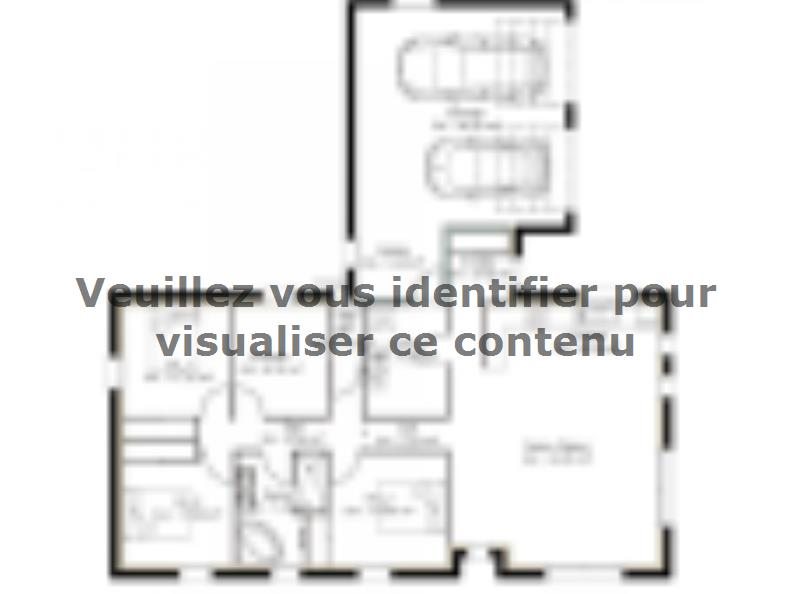 Plan de maison PP124_P1142V2 : Vignette 1