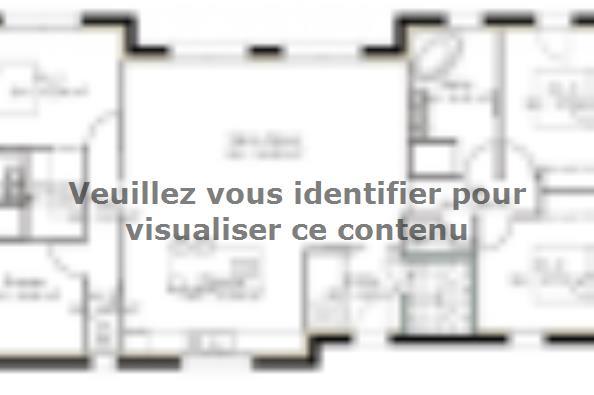 Plan de maison SS122_P1127V2 4 chambres  : Photo 1