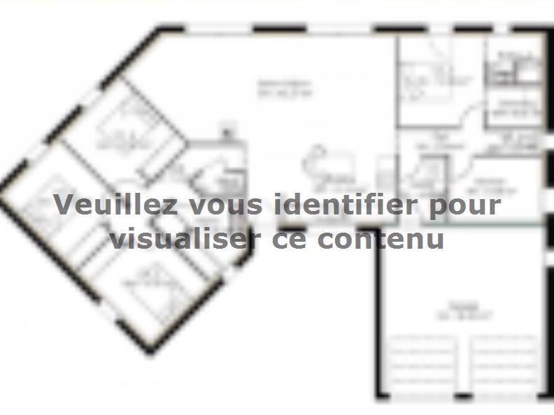 Plan de maison PP135_P1271V2 : Vignette 1