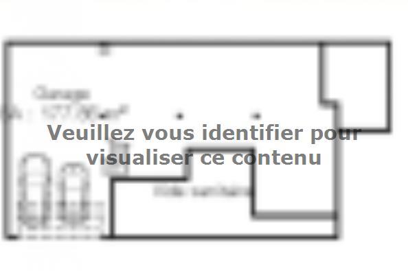 Plan de maison SS159_P1176V2 3 chambres  : Photo 2
