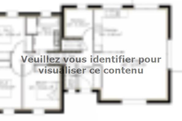 Plan de maison D96_P1478 4 chambres  : Photo 1