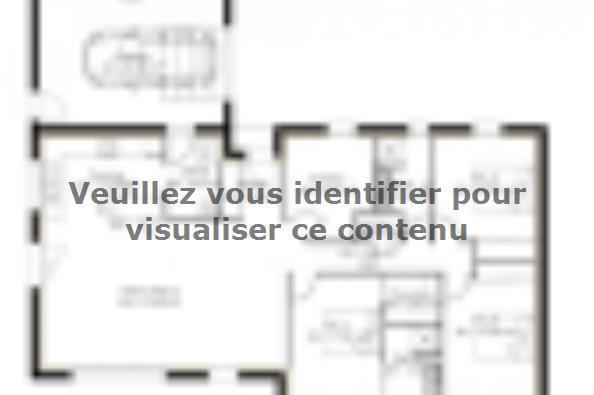 Plan de maison PP121_P1134V2 3 chambres  : Photo 2