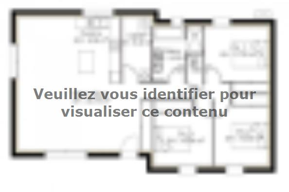 Plan de maison PP93_P1148V3 3 chambres  : Photo 1