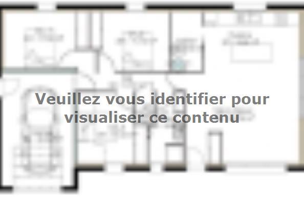 Plan de maison PPC94_P1098V3 3 chambres  : Photo 1