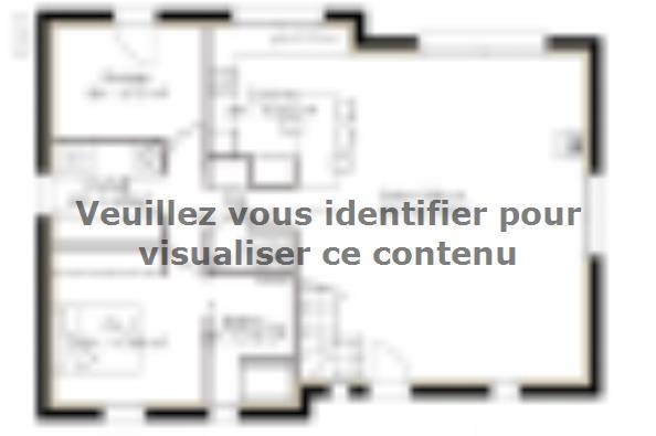 Plan de maison PPCA128_P614V6 3 chambres  : Photo 1