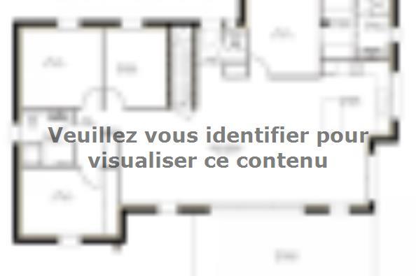 Plan de maison SS125_P279 4 chambres  : Photo 1