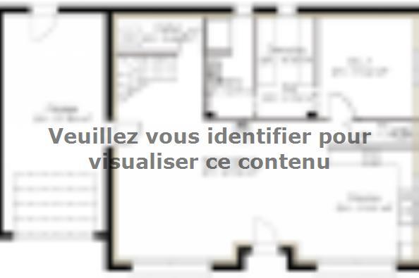 Plan de maison PPCA139_P730V6 4 chambres  : Photo 1