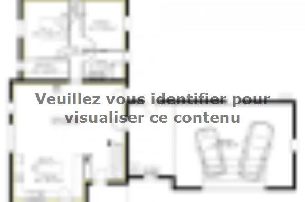 Plan de maison PPE148_P1694V6 4 chambres  : Photo 1