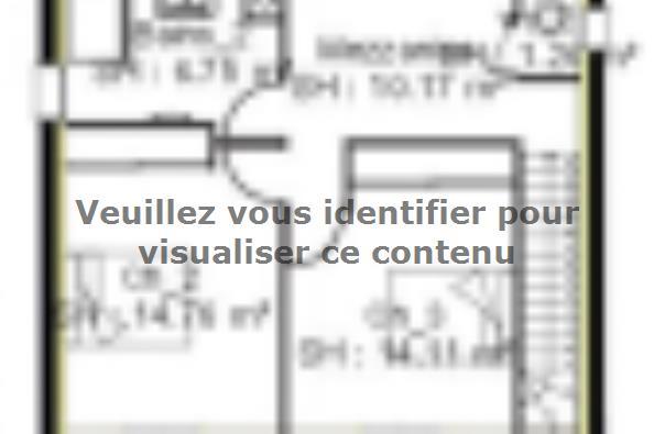 Plan de maison PPE148_P1694V6 4 chambres  : Photo 2